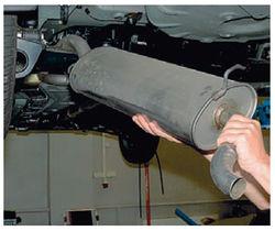 ремонт глушителя на Калине-6